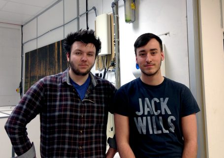 Matthew and Kevin, one year into their printing and finishing apprenticeship at Genesis Imaging