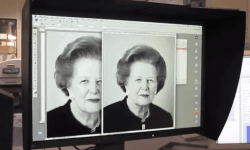 Photographer Frederic Aranda shows the production opf his iconic image of Margaret Thatcher at Genesis Imaging. Video courtesy of Frederic Aranda.