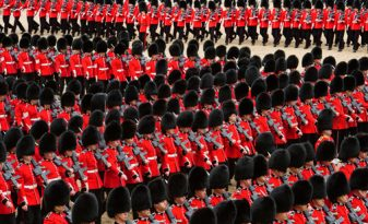 Image © Julian Calder, from his publication 'The Queen's Birthday Parade - Trooping the Colour'