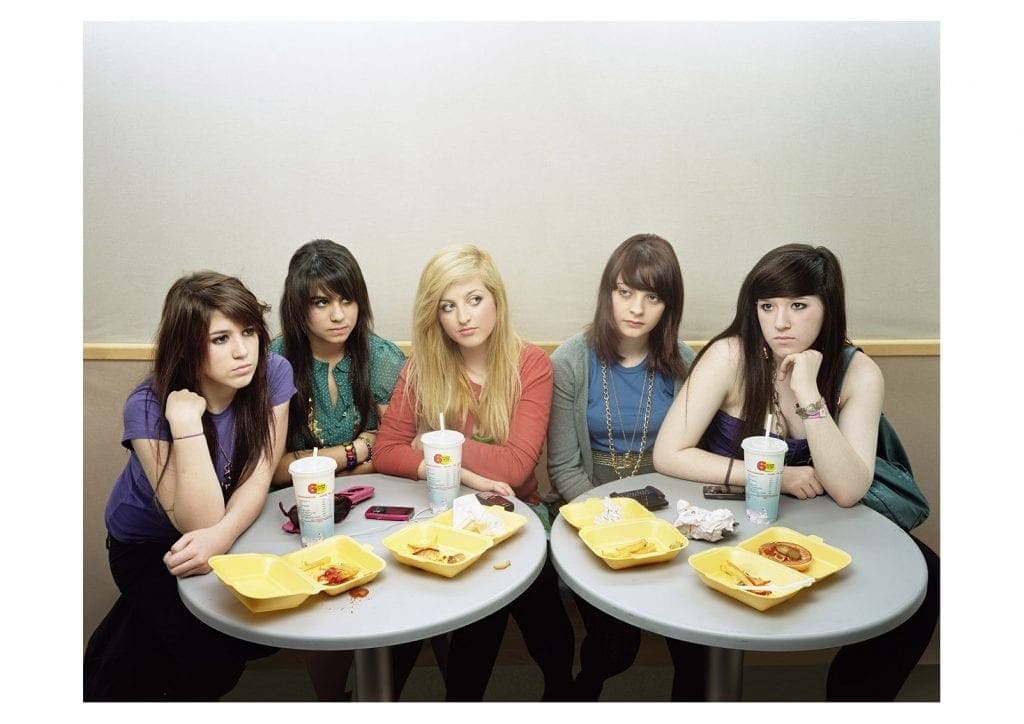 'Five Girls' © David Stewart, shown as part of the Taylor Wessing Photographic Portrait Prize exhibition at The National Portrait Gallery in 2008.