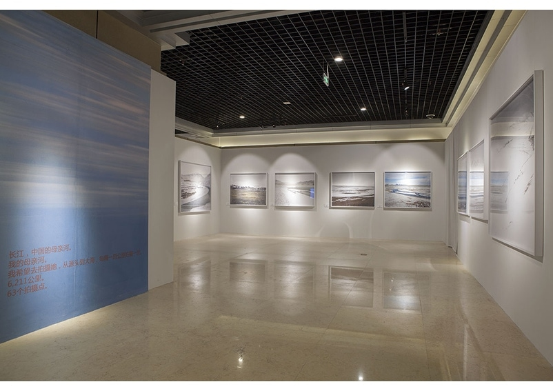 Exhibition installation images for Yan Preston's Mother River exhibiiton at Chongqing China Three Gorges Museum, 15 May - 5 June, 2015. Image © Yan Wang Preston.