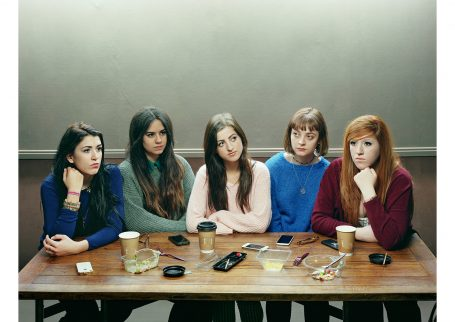 'Five Girls 2014' © David Stewart, shortlisted for the Taylor Wessing Photographic Portrait Prize 2015 at The National Portrait Gallery.
