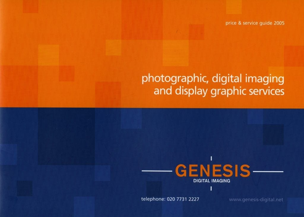Genesis Digital Imaging Price Guide, 2005.