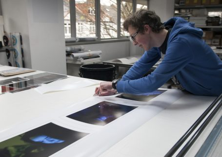 Joel Hitchins-Samson, a second year Photography BA student at Falmouth University on his week of work experience at Genesis Imaging.