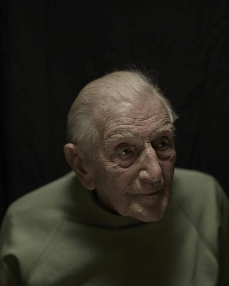 John Harrison © Paul Stuart, printed as a Lambda C-type print and exhibited as part of the Taylor Wessing Photographic Portrait Prize.