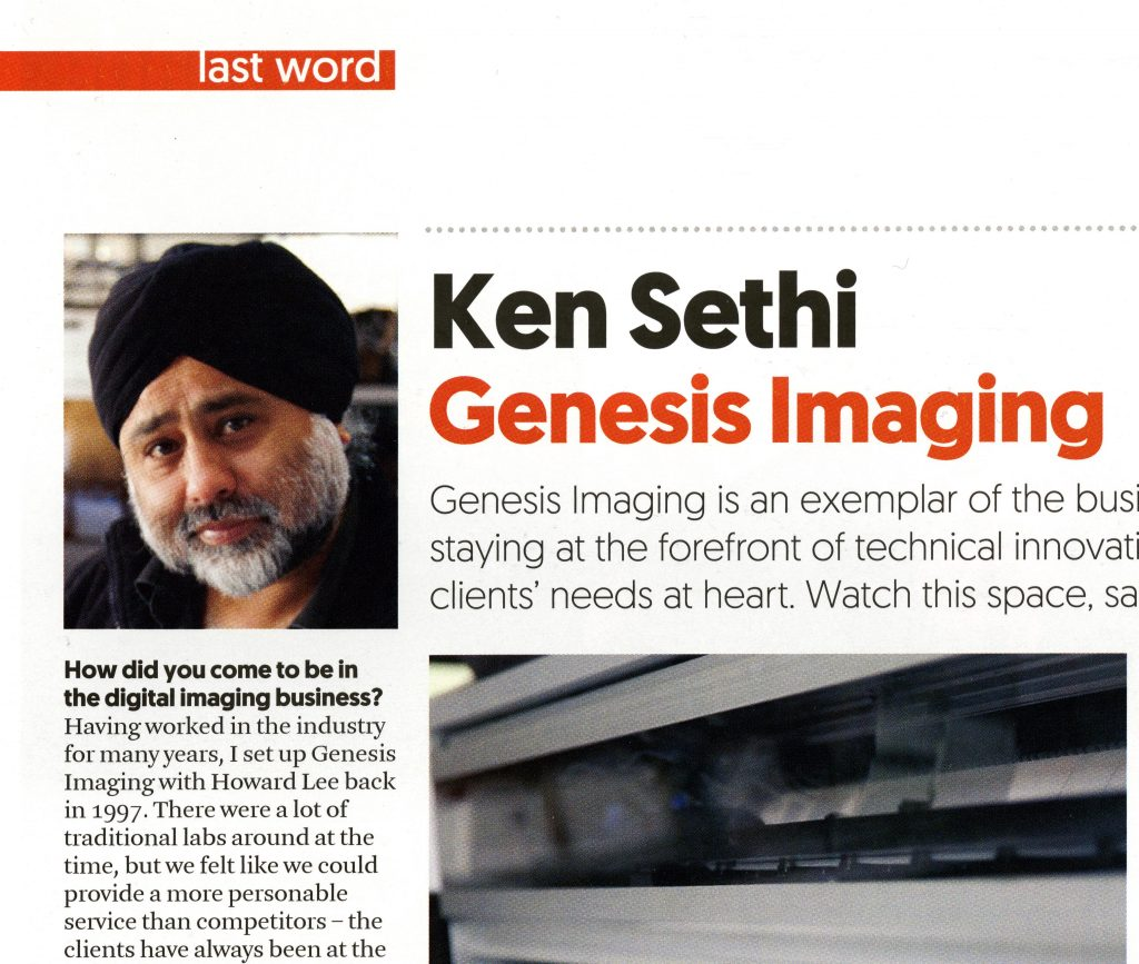 Genesis featured in Art + Framing Today